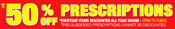 Chemist Warehouse - 50% OFF prescriptions
