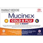 Mucinex Cold & Flu Day & Night 24 Tablets