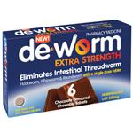 Deworm Extra Strength 500mg 6 Chewable Tablets