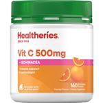 Healtheries Vit C 500mg Plus Echinacea 160 Chewable Tablets