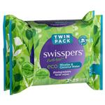 Swisspers Eco Micellar & Coconut Water Biodegradable Facial Wipes Twin Packs 2 x 25 Wipes