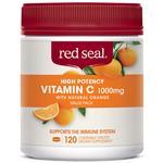 Red Seal Vitamin C 1000mg Orange 120 Chewable Tablets