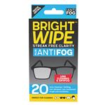 Bright Wipe Lens Cleaning Antifog Wipes 20 Pack