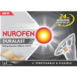 Nurofen Duralast 200mg Ibuprofen Medicated Dermal Patch 2 Pack