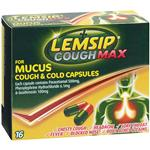 Lemsip Cough Max For Mucus Cough & Cold Capsules 16 Capsules