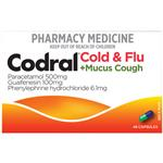 Codral Cold & Flu + Mucus Cough 48 Capsules