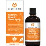 Kiwiherb Childrens Organic Throat Syrup 100mL