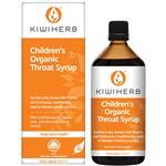 Kiwiherb Childrens Organic Throat Syrup 200mL