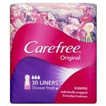 Carefree Original Liners Shower Fresh Scent 30 Pack