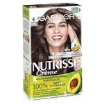 Garnier Nutrisse Permanent Hair Colour - 4 Tamarind Dark Brown (Enriched with 4 Natural Oils)