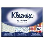 Kleenex Pocket Pack Tissues 6 Pack