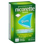 Nicorette Quit Smoking Regular Strength Icy Mint Chewing Gum 2mg 105 Pieces