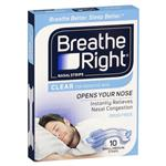 Breathe Right Clear Regular Nasal Congestion Strips 10