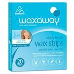 Waxaway Ready To Use Sensitive Wax Face 20 Strips