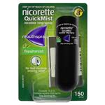 Nicorette Quit Smoking QuickMist Mouth Spray Freshmint 150 Sprays (13.2mL x 1)