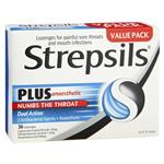 Strepsils Plus Numbing Lozenges 36pk Sore Throat Pain Relief