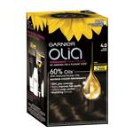 Garnier Olia Permanent Hair Colour - 4.0 Dark Brown (Ammonia Free, Oil Based)
