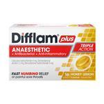 Difflam PLUS Lozenges Honey And Lemon 16
