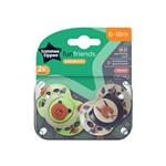 Tommee Tippee Closer To Nature Fun Style Soothers 6-18 Months 2 Pack