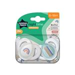 Tommee Tippee Closer To Nature Night Time Soothers 6-18 Months 2 Pack