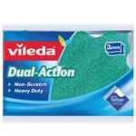 Vileda Dual Action Sponge Scourer 3 Pack