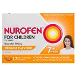 Nurofen for Children 7+ Orange 100mg Chewable 12 Capsules
