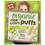Whole Kids Little Munchkins Organic Rice & Corn Puffs Apple 7.5g 4 Pack