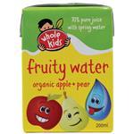 Whole Kids Organic Fruity Water Apple & Pear 200ml