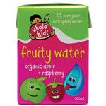 Whole Kids Organic Fruity Water Apple & Raspberry 200ml