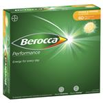 Berocca Energy Vitamin Mango & Orange Effervescent Tablets 60 pack Exclusive Size