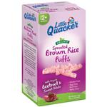Little Quacker Organic Brown Sprouted Rice Puffs Beetroot & Sweet Potato 20g