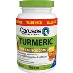 Carusos Natural Health One a Day Turmeric 150 Tablets