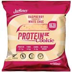 Justines Raspberry White Choc Chip Protein Cookie 64g