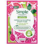 Simple Kind to Skin Radiance Boost Facial Sheet Mask 25ml