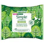 Simple Biodegradable Cleansing Wipes 25