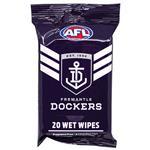 AFL Wet Wipes Fremantle Dockers 20 Pack