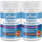 Good Health Magnesium Easy to Swallow Twin Pack 180 Capsules