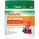 Healtheries Vit C 500mg Plus Superfruits 200
