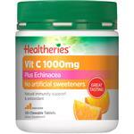 Healtheries Vit C 1000mg Plus Echinacea 100 Chewable Tablets
