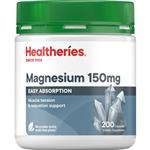 Healtheries Magnesium 150mg 200 Capsules