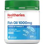 Healtheries Fish Oil 1000mg 200 Capsules