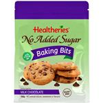 Healtheries No Added Sugar Baking Bits Milk Chocolate 200g