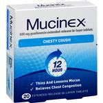 Mucinex SE 600mg 20 Tablets