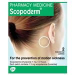 Scopoderm Motion Sickness 1.5mg 2 Patches