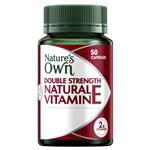 Natures Own Double Strength Natural Vitamin E 1000IU 50 Capsules