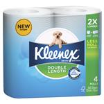 Kleenex Double Length Toliet Paper 4 Rolls