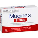 Mucinex Sinus 24 Tablets