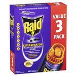 Raid Exterminator Flea & Cockroach Bomb 3 Pack