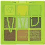 W7 Too Fabulous Vivid Pressed Pigment Eyeshadow Palette Glowin Green